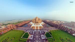 Helicopter view - Akshardham Temple