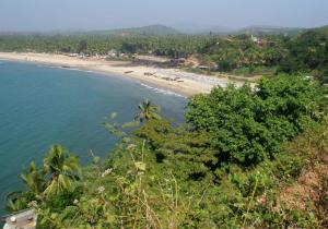 Beach From Top - Gokarna
