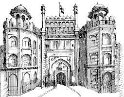 Drawing - The Red Fort