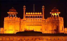 Night View - The Red Fort