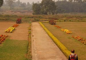 Gardens around the main Stupa - Vikramshila University